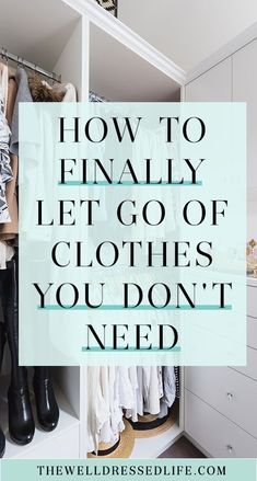 Our easy tips and strategies show you how to purge clothes from your closet. By changing your mindset you'll be able to let go of things for good.