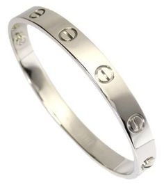 Cartier Cartier Love Bracelet White Gold In Box With Papers Sz#16 K18WG  $3777