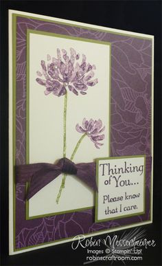 I love Stampin' Up!'s new for 2014 color, Blackberry Bliss.  What a great color for a Sympathy Card.