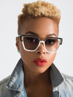 I wish my hair was thick enough for a high top. ALSO CHRISETTE MICHELE'S EYEBROWS. #gimme