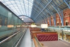 Searcys Champagne Bar sits inside London's decadent St. Pancras International Station