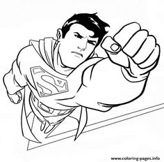 superman coloring pages for print free | kleurplaat | pinterest ... - Printable Coloring Pages Superman
