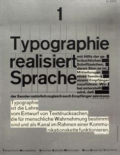 Typographie Realisiert Sprache — Wolfgang Weingart