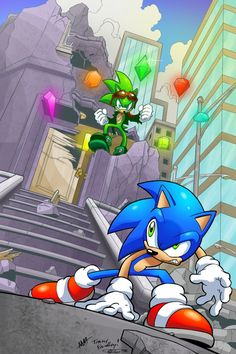 Sonic vs Scourge by Tracey Yardley Sonic The Hedgehog, Silver The Hedgehog, Shadow The Hedgehog, Comic Layout, Sonic Heroes, Sonic Adventure, Sonic Screwdriver, Sonic Franchise, Sonic And Shadow