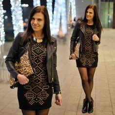 Mango Jacket, Armani Exchange  Dress, Zara Boots
