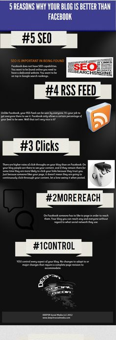 5 Reasons Why Your Blog Is Better Than Facebook [Infographic]