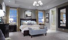 Love this bedroom color scheme!