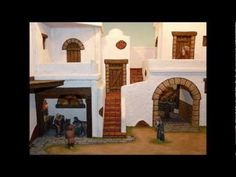 How to make a Christmas Crib - Presepio Nativity House, Diy Nativity, Christmas Nativity, Christmas Diy, Arched Doors, Arched Windows, Fairy Houses, Play Houses, Navity Scene