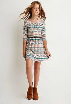 Tribal Print Bow-Back Dress (Kids)   Forever 21 girls   #forever21kids
