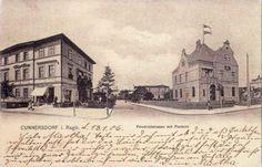 Wlot ulicy Powstańców Wielkopolskich na Wolności. Po prawej stronie mała poczta