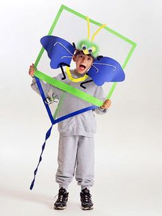 This is such a clever homemade costume. I love it!