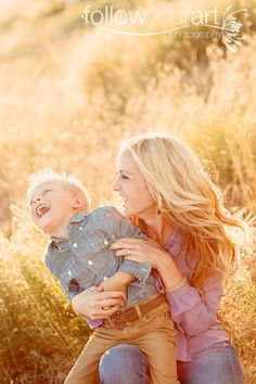 Natural poses are the best!!!! Mother and son. Natural laugh pose!