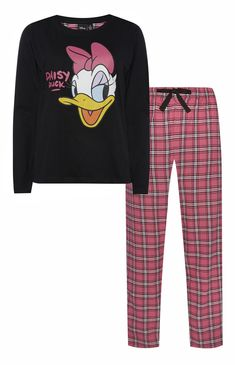 Primark - Daisy Duck Pink Check PJ Set