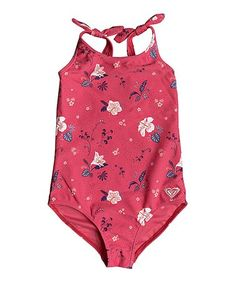 Roxy Rouge Red Tropicool Mermaid One-Piece - Toddler & Girls Roxy Baby Clothes, Toddler Swimsuits, Girls Bathing Suits, Girl Online, Baby Dress, One Piece Swimsuit, Kids Outfits, Swimwear, Toddler Girls
