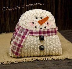 Little Chenille Snowman - Kruenpeeper Creek Country Gifts
