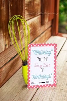 Birthday Whisk with Free Printable