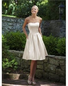 cute simple bridesmaid dress or for reception/rehearsal for bride!