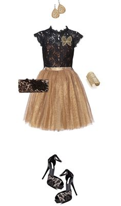 """""""Metallic Lace"""" by angela-windsor on Polyvore"""
