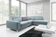 Sofa Couchgarnitur Couch GENOVA CORNER Polsterecke Wohnlandschaft 3FBL + R + OSP