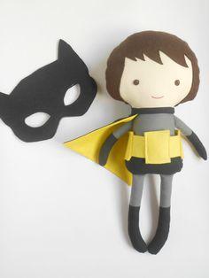 Superhero doll inspired by Batman boy doll gift by LaLobaStudio #batman #inspired #boydoll