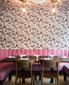floral wallpaper at out east restaurant. / sfgirlbybay