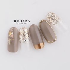 Spring / Winter / All Season / Office / Hand-Tunashima_nail Nail Design| Nail book Gorgeous Nails, Love Nails, Pretty Nails, My Nails, Nail Swag, Korean Nails, Jugend Mode Outfits, Uñas Fashion, Nail Charms