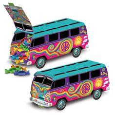 Centrotavola da montare autobus multicolor anni '60 su VegaooParty, negozio di articoli per feste. Scopri il maggior catalogo di addobbi e decorazioni per feste del web, sempre al miglior prezzo!