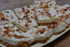een prachtige no bake kokos limoen yoghurttaart. Met een combinatie van de smaken kokos, limoen en gember!