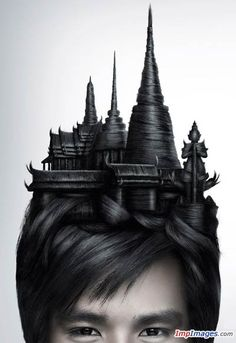 Dramatic hairstyles.....Wanna try this one? :D