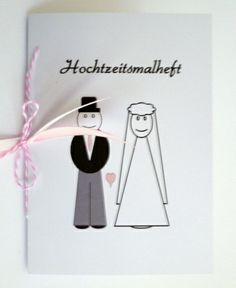Hochzeitsmalbuch für kleine Kinder Gastgeschenk von Deko & Papierwelt auf DaWanda.com