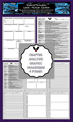 Chapter Analysis Graphic Organizers -- 6 Pages!