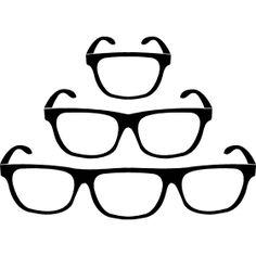 ein bis drei Augen Brillen - Drei Brillen mit einer verschiedener Anzahl von Gl�sern.