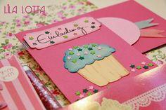 Cupcake Einladungskarten DIY ... ~ Lila-Lotta