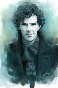 Sherlock fanart by rednavi....idk, this just seems really cool....