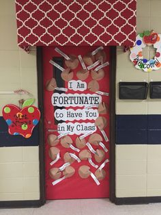My back to school classroom door and awning over my door, which I love.  It's made of of pvc pipe and covered with fabric.