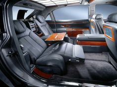 The Maybach 57 ( chassis no. and 62 (chassis no. were the first automobile models of the Maybach brand since the . Maybach Car, Maybach Exelero, Prom Car, Car Best, Automobile, Car Interior Design, Interior Trim, Luxury Interior, Mercedes Maybach
