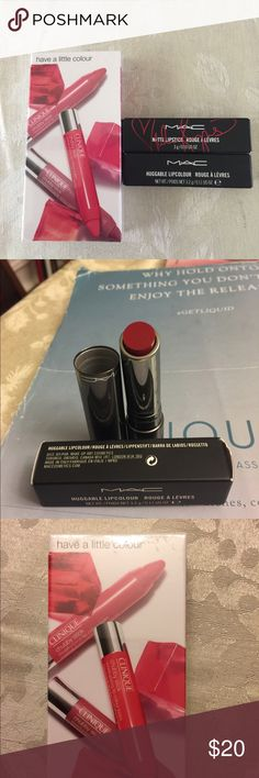Three kind of products CLINIQUE One box of chubby stick,MAC two lipstick ,one is red necessity,one is viva glam Miley Cyrus 2 MAC Makeup Lipstick