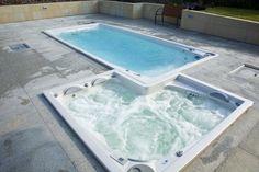 Swim spa con hidromasaje de lujo. Piscinas de lujo. #lujo #hidromasajes