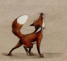Lalala red fox by =Skia on deviantART Cute Drawings, Animal Drawings, Drawing Animals, Fuchs Illustration, Illustration Animals, Lapin Art, Fantastic Fox, Fox Drawing, Fox Art