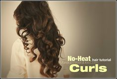 How to big, soft, no-heat #curls for medium long #hair tutorial | Damage-free, heatless curly - takes 3 hours