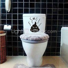 multifonction pvc toilette décorative autocollants - USD $1.69