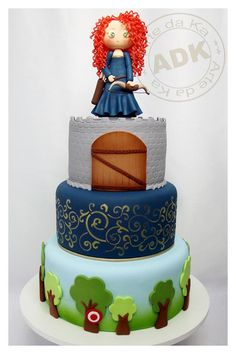 My inner child would love to have this cake for my next birthday because I love Merida!