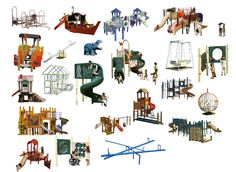 Photoshop PSD Children's Play Equipment 3 – CAD Design | Free CAD Blocks,Drawings,Details