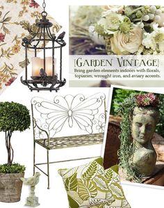 2012 design trend - garden vintage decor