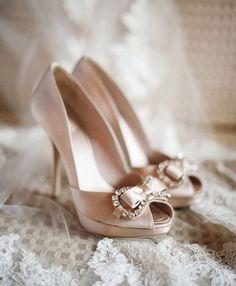 rosa Brautschuhe, Glitzer, Peep Toe, Hochzeitsschuhe