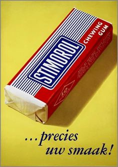 vintage Dutch advertising poster for Stimorol chewing gum Old Posters, Vintage Posters, Good Old Times, The Good Old Days, My Childhood Memories, Sweet Memories, Memories Box, Retro Advertising, Vintage Advertisements