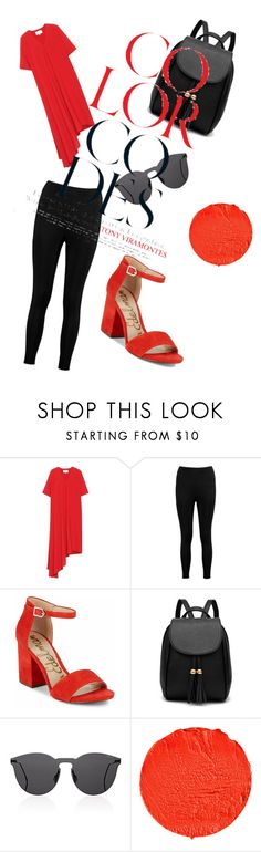"""""""Color Codes - Black+Red=Style"""" by kika-alves ❤ liked on Polyvore featuring Maison Margiela, Boohoo, Sam Edelman, Illesteva and Givenchy"""