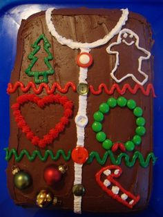 tacky christmas sweaters   tacky christmas sweater cake!   Tacky Christmas Party