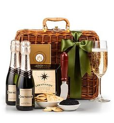 Champagne & Caviar Gift Basket - wonderfully thoughtful gift for celebrating any special occasion!