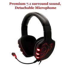 Ozone Gaming Gear Black Rage 7HX 7.1 Surround Sound USB Headset